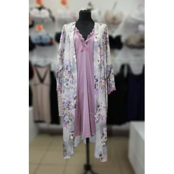 Комплект халат и сорочка ночная 285